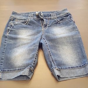 Women denim shorts